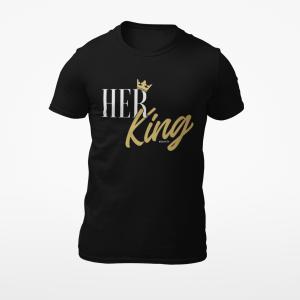 Her King Black Mens Tshirt